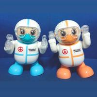 Mainan Anak Robot Figur Tenaga Medis APD Robot Dancing Suara Lampu