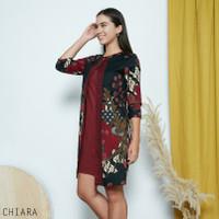 Chiara Dress Super Jumbo - Dress Batik Jumbo Wanita Terusan Wanita