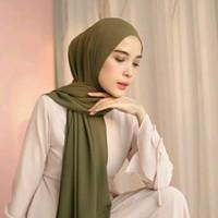 kerudung pashmina hijab pashmina premium 175 x 70 cm - ARMY