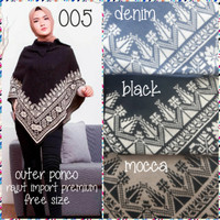 Ponco outer mantel rajut import(adem.tebal) all size fit to m-7L