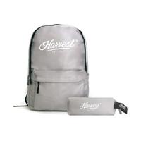 Paket Tas Ransel / Backpack & Kotak Pensil Harvest Grey