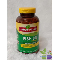 Nature Made Fish Oil 1200mg 360mg Omega 3 isi 200 Softgels