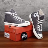 Sepatu Converse Chuck 70S High Mason Grey Black Egret Abu