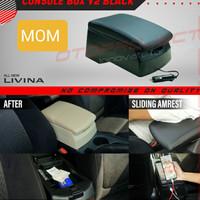 armrest tangan / console box hitam + usb V2 otoproject All New Livina