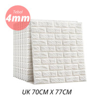 Wallpaper Dinding 3D Foam Batu Bata 70cm x 77cm