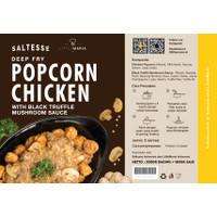 Deep Fry Saltesse Popcorn Chicken 300g w/ Truffle Mushroom Sauce 180gr