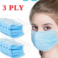 masker medis 3 ply earlop isi 10pcs