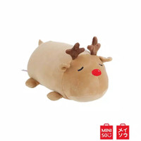 Miniso Bantal Rusa Anak Toys Cylindrical Elk Reindeer Plush Doll