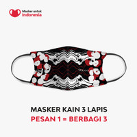 Masker untuk Indonesia x Purana - Kain Scuba Full Printing