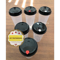 TUTUP Cup PP Injection 500ml 700ml 1 pack ( 25pcs )