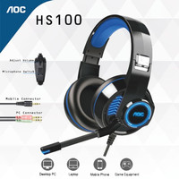 Headset Gaming AOC HS100 single jack free splitter
