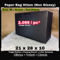 paper bag - tas kertas - kantong kertas - paperbag / tali Hitam KeciL