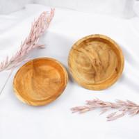 Oyim| coaster kayu jati pilihan anti licin panas bulat alas gelas wood