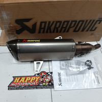 Knalpot Slip On Akrapovic XMAX SS Titanium Carbon end cap 2nd Second