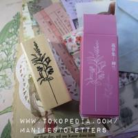 Wooden stamps Green Plant rubber stempel karet craft journal snailmail