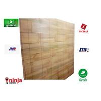 Tirai bambu,krey bambu kulit putih size L 2m x T 2m