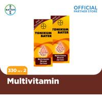 Tonikum Multivitamin, Mineral, dan Zat Besi Rasa Tutti Frutti 330ml x2