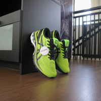 ASICS GEL-KAYANO 27 4E Extra Wide Lime Zest Black