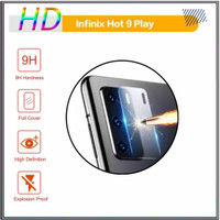 TEMPERED GLASS CAMERA INFINIX HOT 9 PLAY ANTI GORES LENS CAMERA