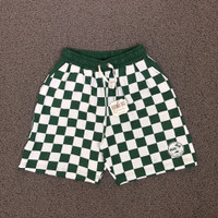 SHORT PANTS CELANA PENDEK VANS GREEN CHECKER BOARD PATTERN IN WHITE