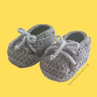 Sepatu/Booties Bayi Rajut - Simple Lace