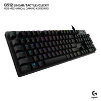 Logitech Keyboard Gaming G512 RGB Mechanical Linear Red
