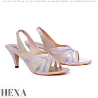 Sepatu Sandal Wanita High Heels Tali Sendal Pesta Hak Tinggi 6cm Emas