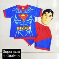Kostum Stelan Superman Anak / Setelan Laki-Laki dan Perempuan