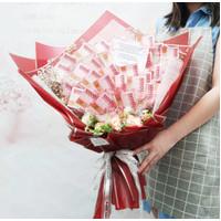 Money Bouquet / Kado Ulangtahun Buket Uang + Artificial 3jt MB1020