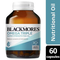 Blackmores Omega Triple Concentrated Fish Oil Isi 60 Capsules