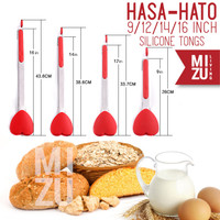 MIZU HASA-HATO Capitan Penjepit Anti-Slip Kitchen Tongs Silicone Tongs