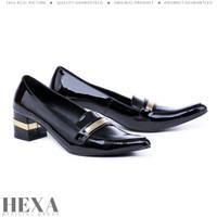 Sepatu Wanita Pantofel High Heels Hak Tahu 6cm Formal Kerja Hitam