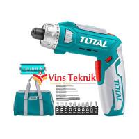 mesin bor obeng baterai screw driver 8V TOTAL TSDLI0801
