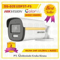 KAMERA CCTV HIKVISION 2MP COLORVU DS-2CE12DF3T-FS AUDIO