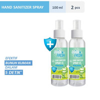 Quick'N Fresh Hand Sanitizer Spray 100 ml Twinpack