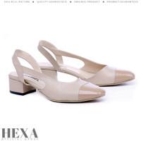 Sepatu Sandal Wanita High Heels Tali Sendal Pesta Hak Tahu 3cm Cream