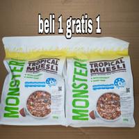 monster tropical muesli 700gr beli 1 free 1