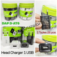 DAP D-AT6 Charger Mini 1 USB 1A Head Charger Single Port Fireproof