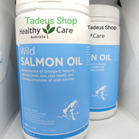 Healthy Care Wild Salmon Oil 1000mg isi 500 tablet kapsul New