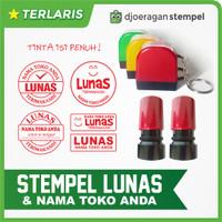 Stempel Warna LUNAS Nama Toko Anda