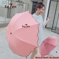 3D Payung Lipat Magic Umbrella Dimensi Lapisan Hitam ANTI UV AJ
