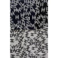 Kain Bahan Daster Homedress Gamis Kain rayon motif Chanel