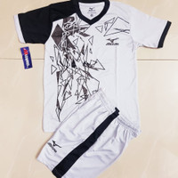Baju olahraga anak Jersey Bola Mizuno Futsal Volly Terbaru Termurah - Abu Hitam, M