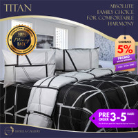 Titan Premium Bed Cover Set Bergaransi | Premium Bedding Set - Single