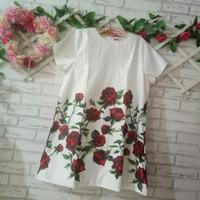 dress big size/big mini dress flowery/dress pesta