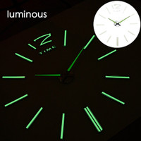 DIY Giant Wall Clock Quartz Glow in The Dark 80-130cm - Lumi-006 7RHZF