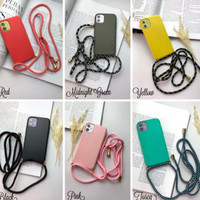 CASE CASING COVER MATTE WARNA STRAP + TALI IPHONE 11 PRO MAX