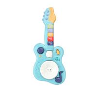 JIADOU Mainan Anak Musik Gitar Band dengan Suara Hewan (Hijau)