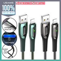 Kabel Lightning Usams Raydan Automatic Power Off Cable Fast Charging