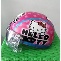 Helm Anak Pink Hello Kitty